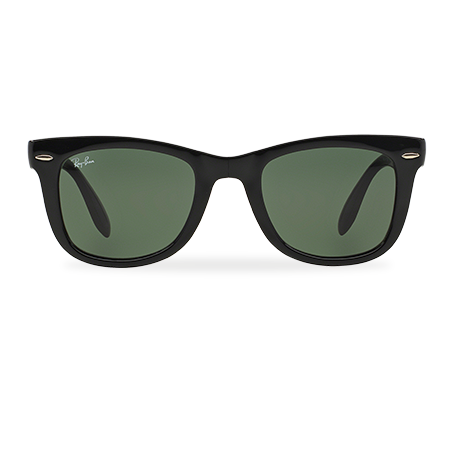 Ray-Ban WAYFARER FOLDING CLASSIC Black with Green Classic G-15 lens