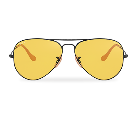 Ray-Ban AVIATOR EVOLVE Black with Yellow Photocromic lens