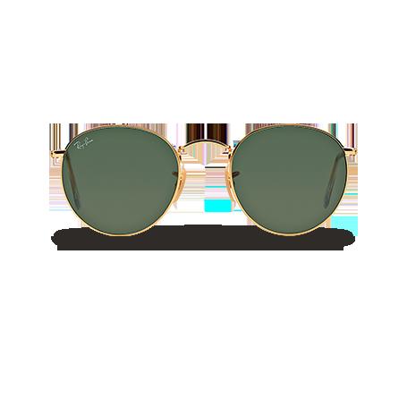 0b7afb7a5a0ba Ray-Ban ROUND METAL Ouro com Verde Clássica G-15 lentes
