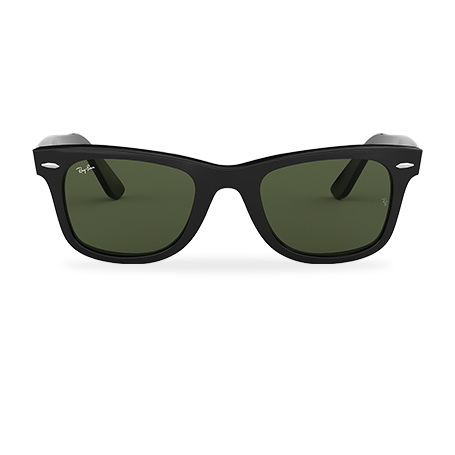 Ray-Ban ORIGINAL WAYFARER CLASSIC Black with Green Classic G-15 lens 7b302d57d51d
