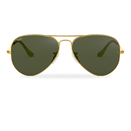 db4a0cbbb849e Ray-Ban AVIATOR CLASSIC Gold with Green Classic G-15 lens