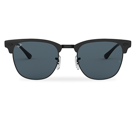 Ray-Ban CLUBMASTER METAL Black with Blue Classic lens