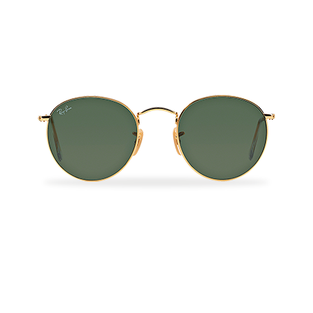 Ray-Ban ROUND METAL Gold with Green Classic G-15 lens ba2a0683f9