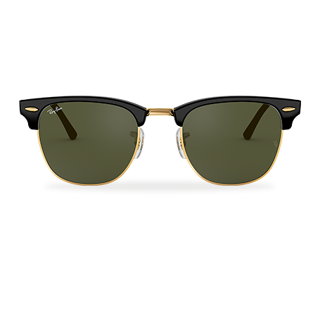 37c09d21fdecee Ray-Ban CLUBMASTER CLASSIC Black met brillenglas Green Classic G-15