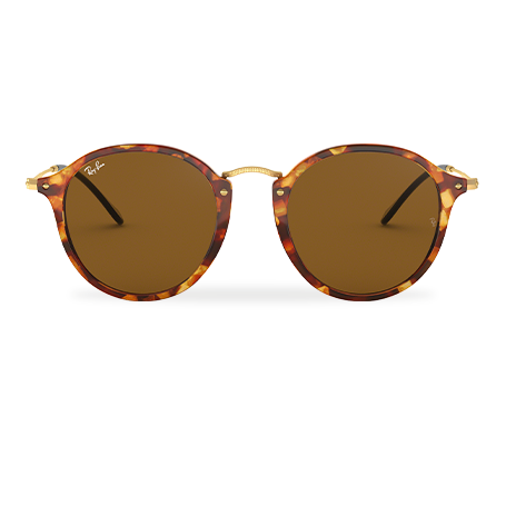 68c85d2b8 Ray-Ban ROUND FLECK Tortoise with Brown Classic B-15 lens
