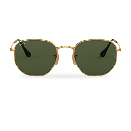 4f0605959 Ray-Ban HEXAGONAL FLAT LENSES Gold with Green Classic G-15 lens