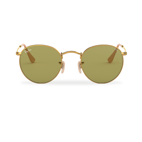 Ray-Ban ROUND EVOLVE Gold with Green Photocromic lens