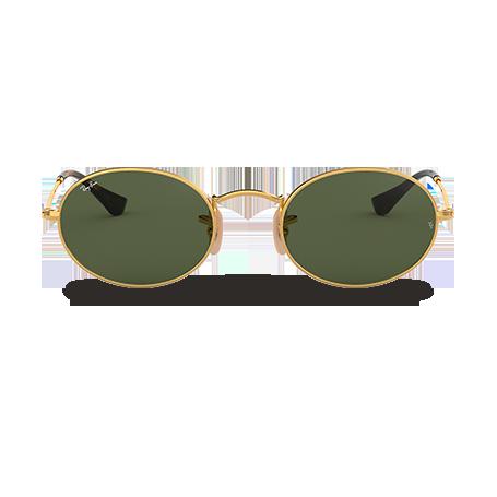 Ray-Ban OVAL FLAT LENSES Oro con lente Verde Clásica G-15 e8c504338037