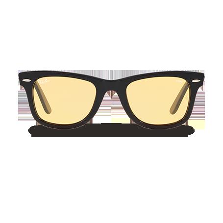 Ray-Ban WAYFARER EVOLVE- Exclusive Edition Preto com Amarelo Fotocromáticas  lentes fa7b1095ea