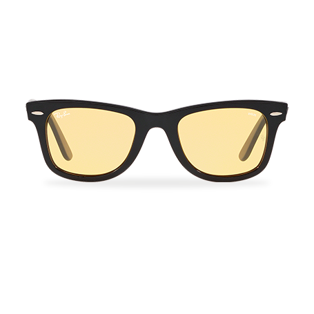 Ray-Ban WAYFARER EVOLVE- Exclusive Edition Black with Yellow Photocromic lens