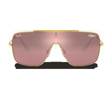760af745fd Ray-Ban WINGS II Oro con lente Plata-Rosa Degradada Espejeado