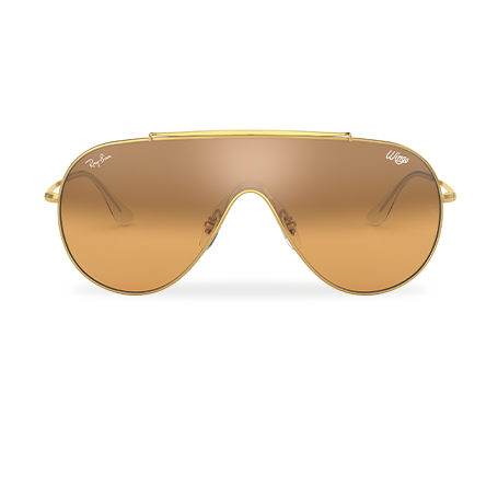 9d76ad4c9c Ray-Ban WINGS Gold with Orange/Silver Gradient Mirror lens