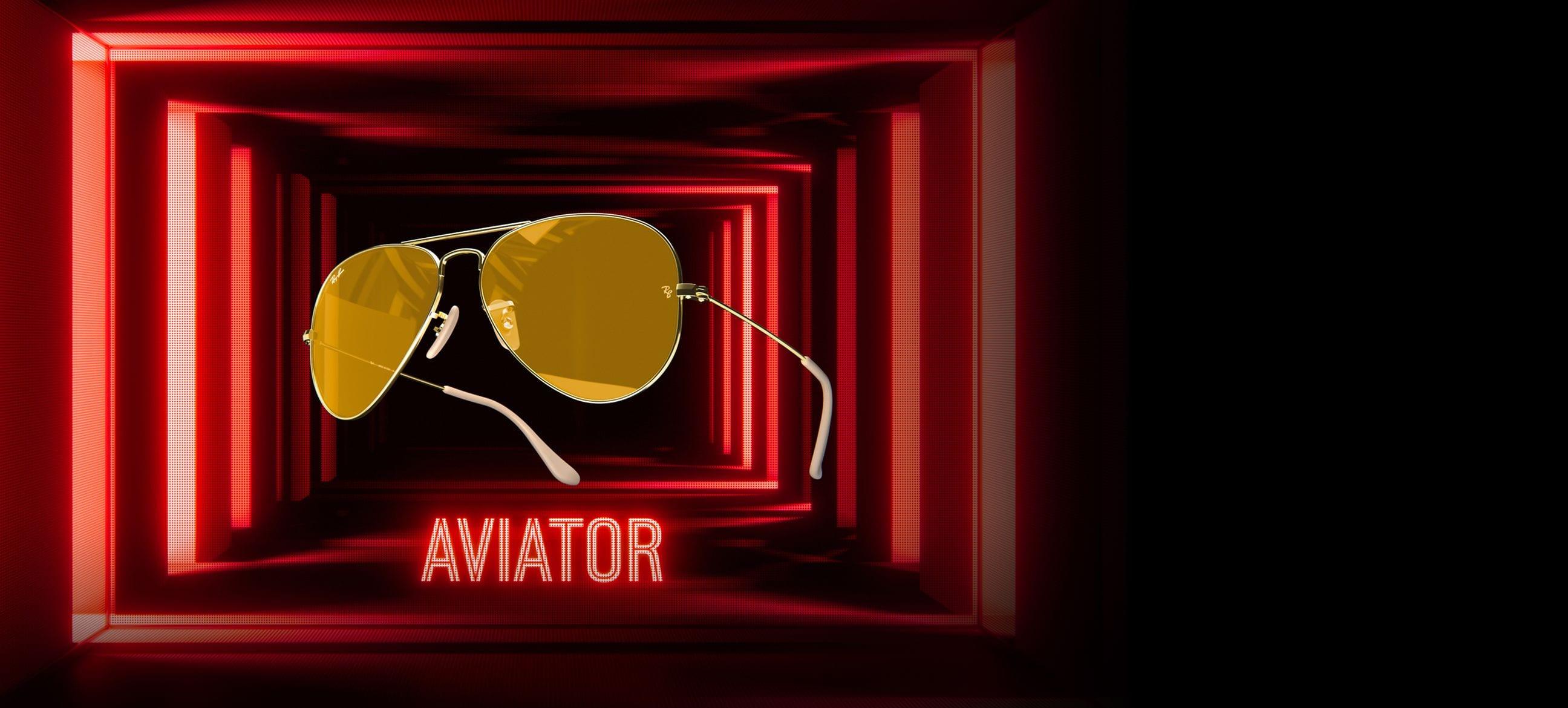 Ambermatic Aviator Ray-Ban Limited
